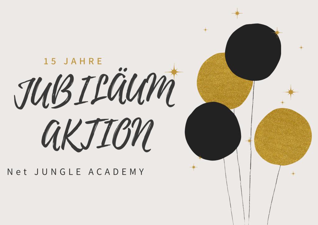 JUBILÄUMSAKTION - 15 JAHRE NET JUNGLE ACADEMY