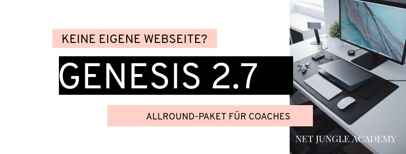Mit meinem Allround-Paket Genesis 2.7 helfe ich PowerPeople, wie Dir, ein professionelles Online-Coaching-Business mit eigenem E-Learning Portal & Webshop zu realisieren, indem ich, als Deine Online-Business-Dolmetscherin, alle wichtigen Schritte & Tools zur Kundengewinnung, Erstellungen und Verwaltung von Webseite, Onlinekursen und Kursmaterialen verständlich erkläre, meine bewährtesten Coaching-Methoden aus 15 Jahren IT-Coaching mit Dir teile, sodass Du Dein Expertenwissen mit mehreren Einnahmequellen weiter geben kannst, ohne dabei auf eine Überzahl an externen Anbietern zurück greifen zu müssen oder auf Kriegsfuß mit dem Technik-Jungle zu stehen.